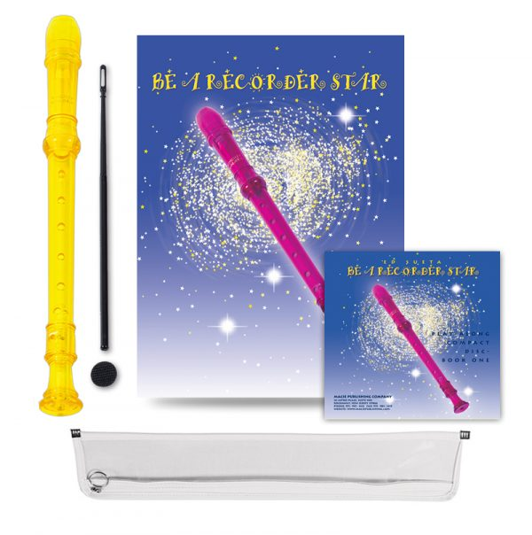 Be A Recorder Star® Kingsley Kolor® Package With CD yellow